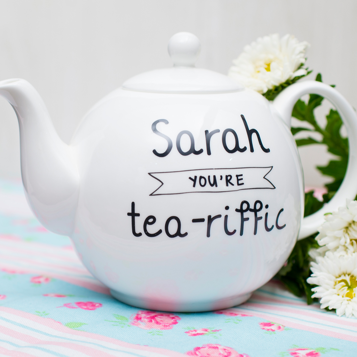 Personalised Bone China Teapot  Youre TeaRiffic