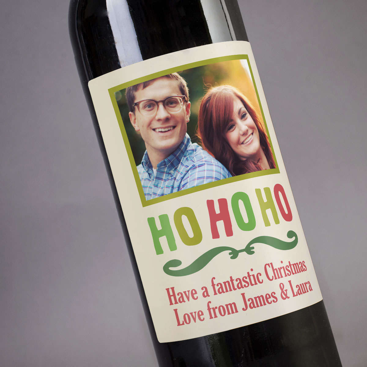 Personalised Wine  HO HO HO
