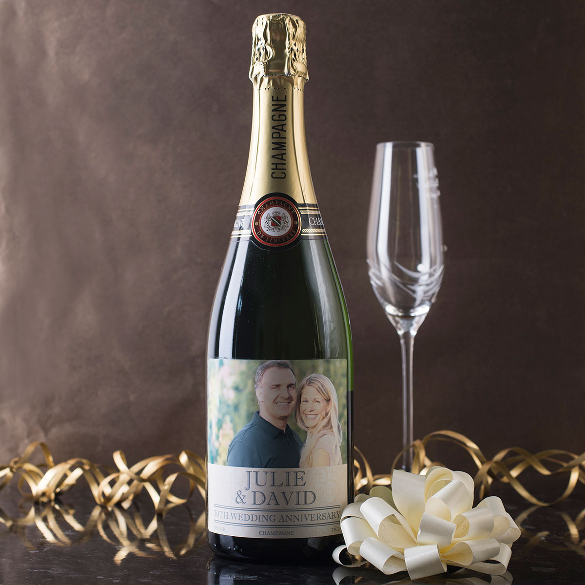 Personalised Luxury Champagne  30th Anniversary