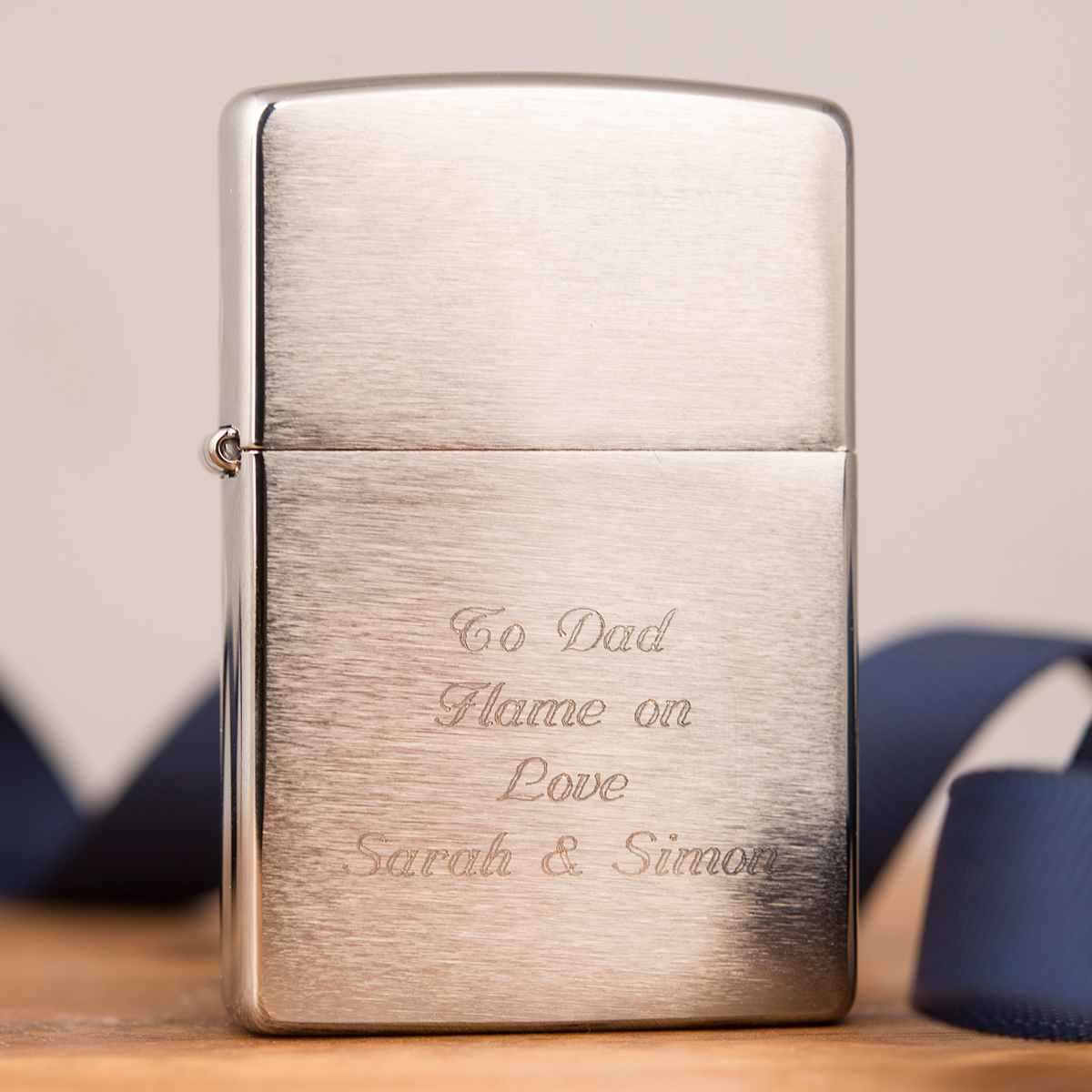 Engraved Chrome Zippo Lighter