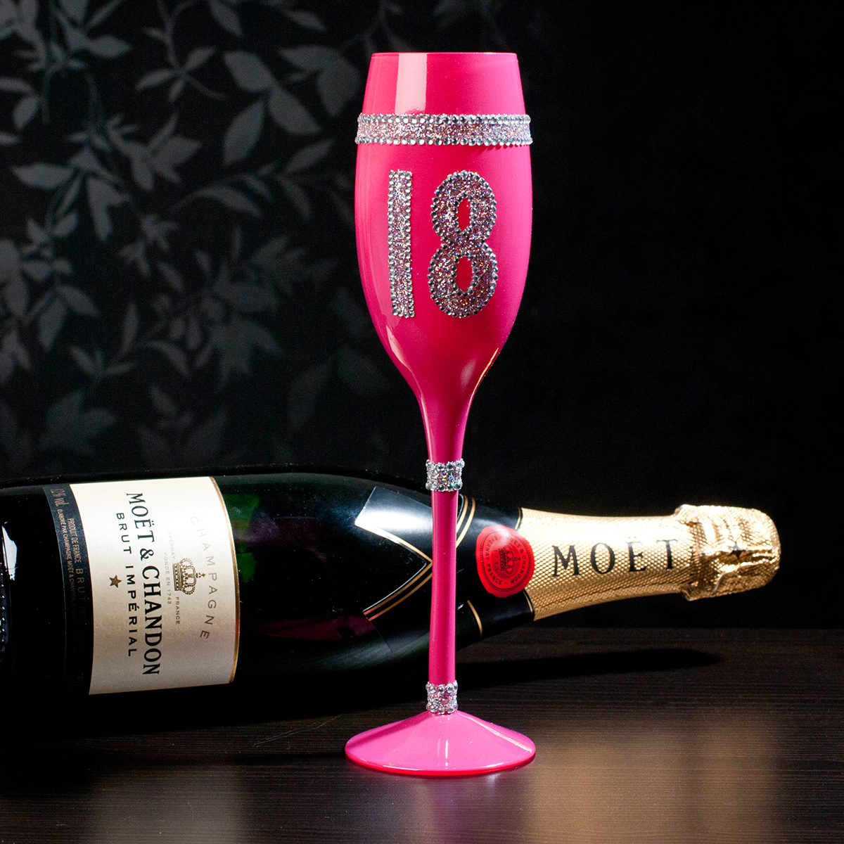 Image of 18th Birthday Pink Champagne Flute