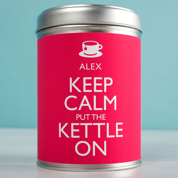 Personalised Tea  Keep Calm And Put The Kettle On
