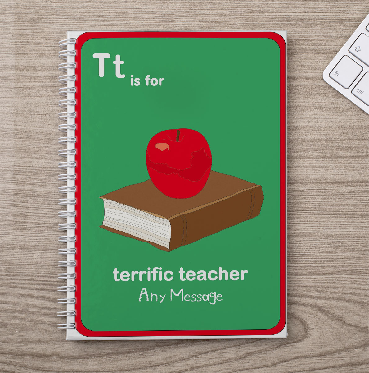 Personalised Notebook  T is for Teacher