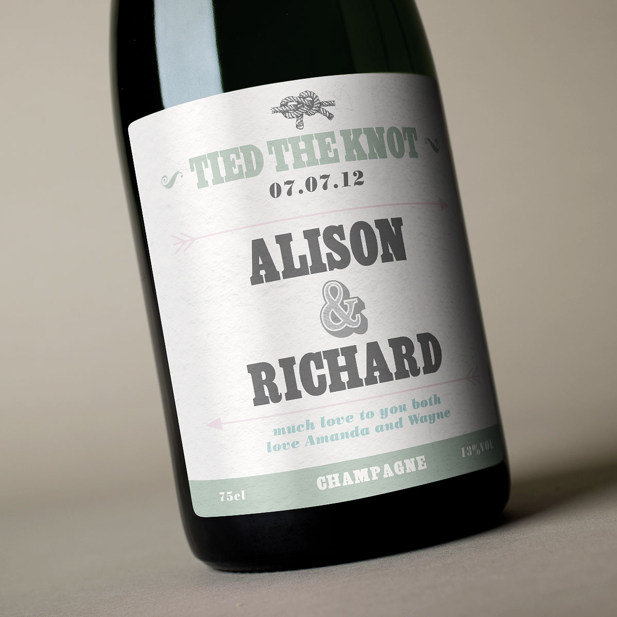 Luxury Personalised Champagne  Tied The Knot