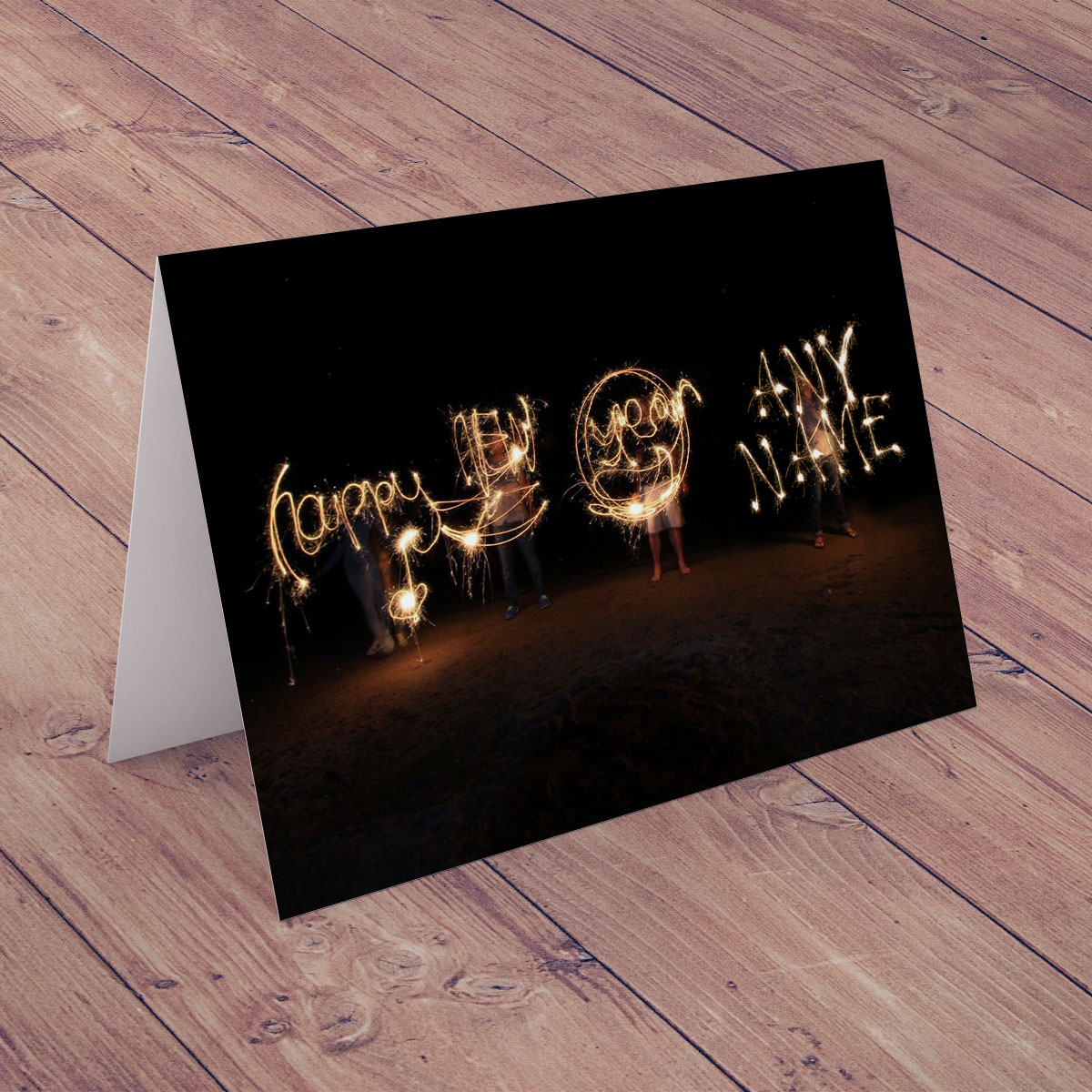 Personalised New Year Card - Sparklers