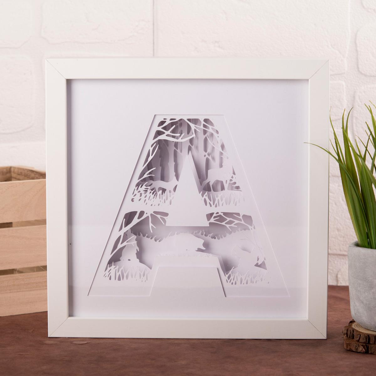 Image of A-Z Alphabet Framed Papercut Mood Light