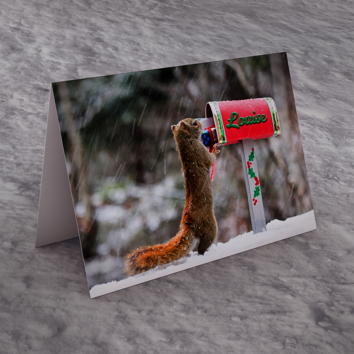 Personalised Christmas Card - Squirrel Post
