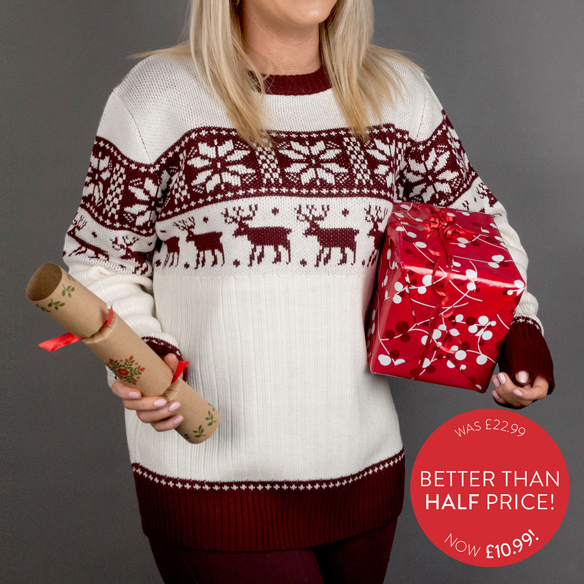 Crazy Grandma Christmas Jumper