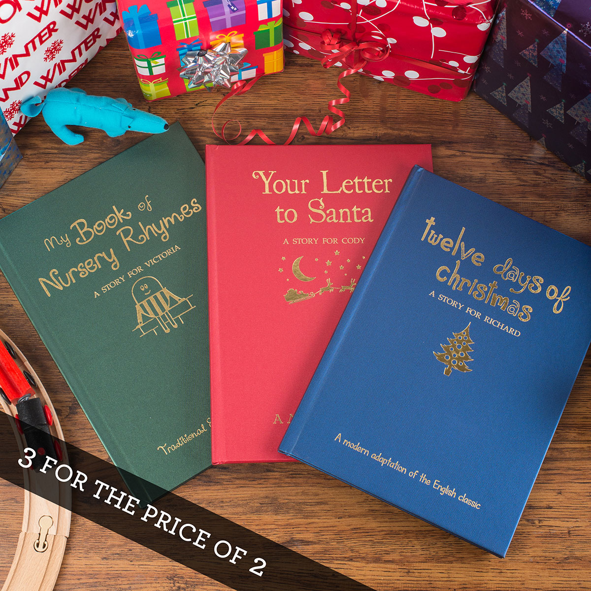 Personalised Hardback Children's Books - Classic Christmas Collection