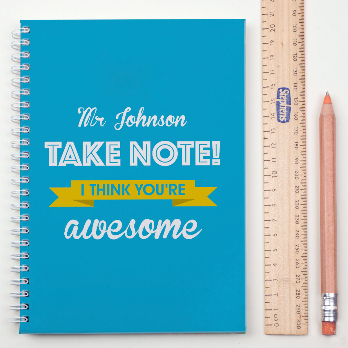 Personalised Notebook  Take Note