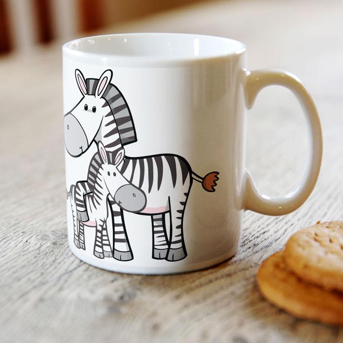 Personalised Mug  Happy Zebras