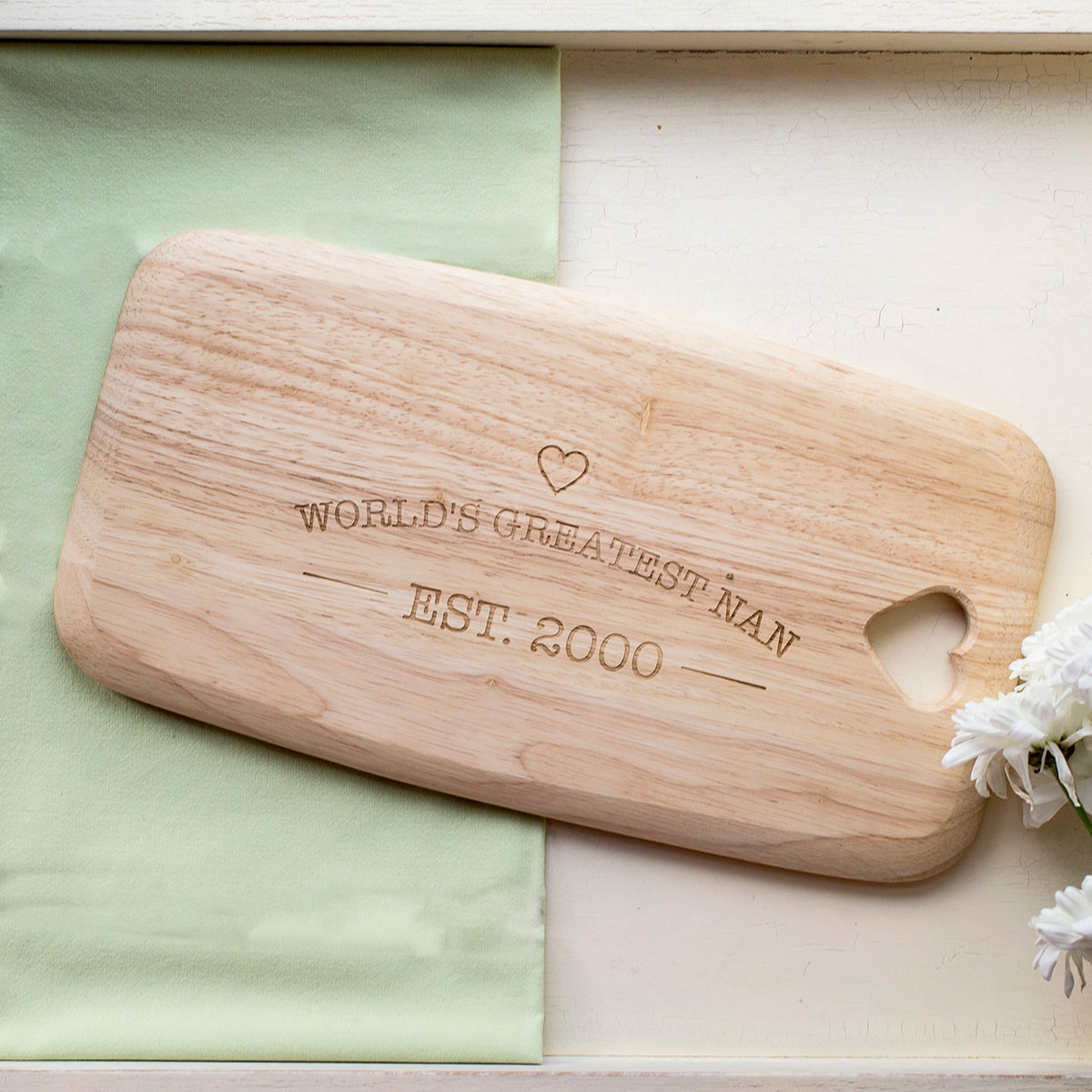 Personalised Colonial Large Chopping Board - EST