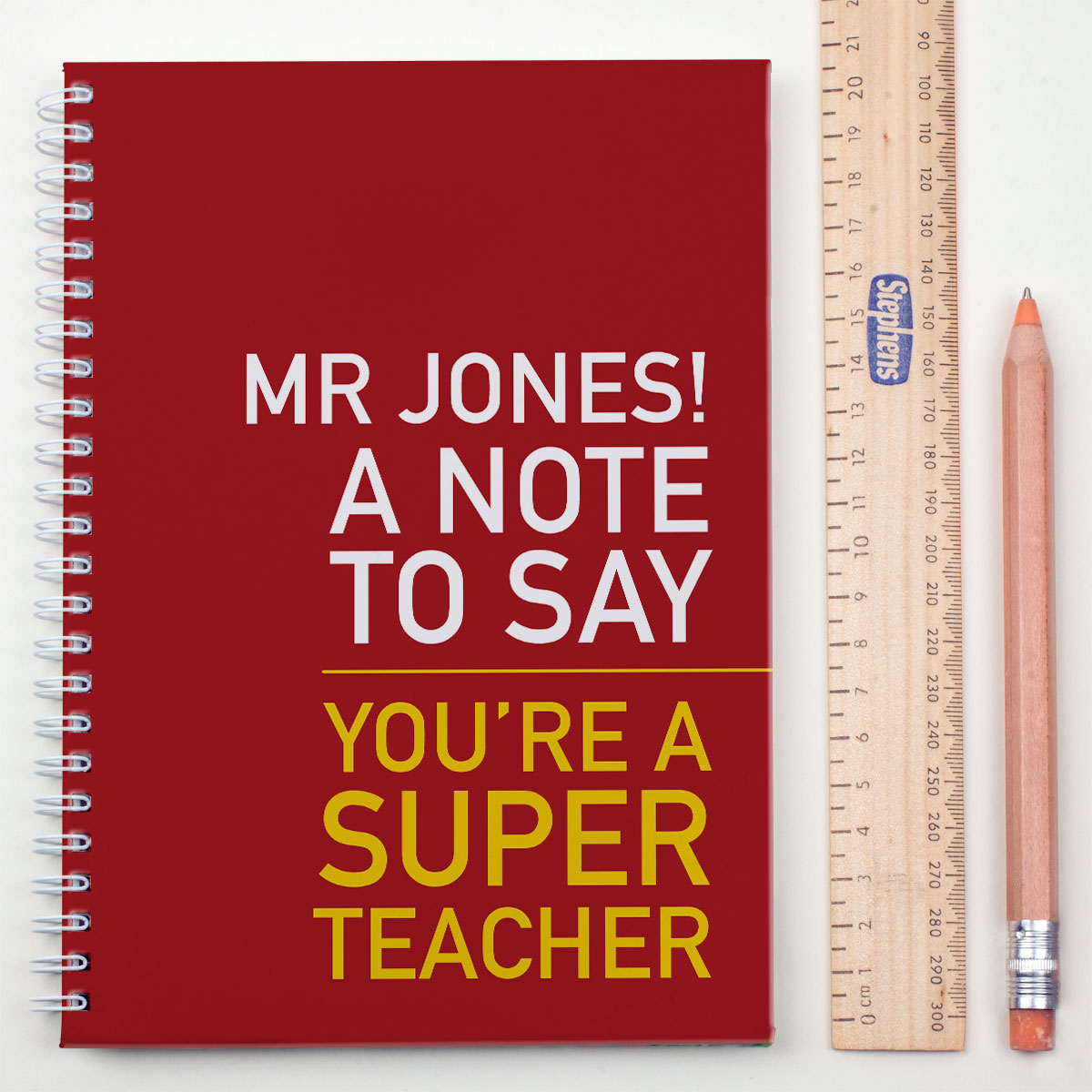 Personalised Notebook  Super Teacher