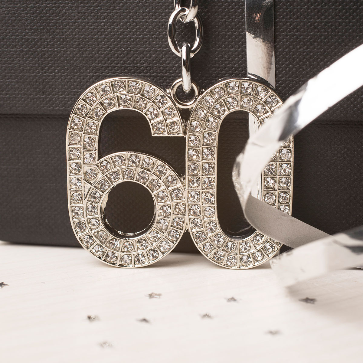 Image of Crystal Keyring - 60th Birthday
