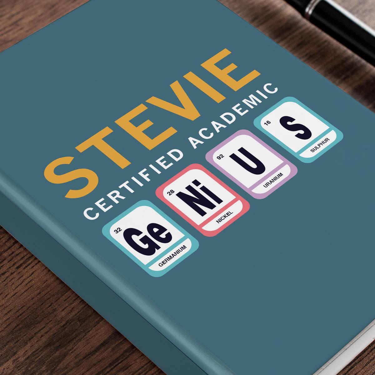 Personalised Gifts Personalised Diary - Certified Genius