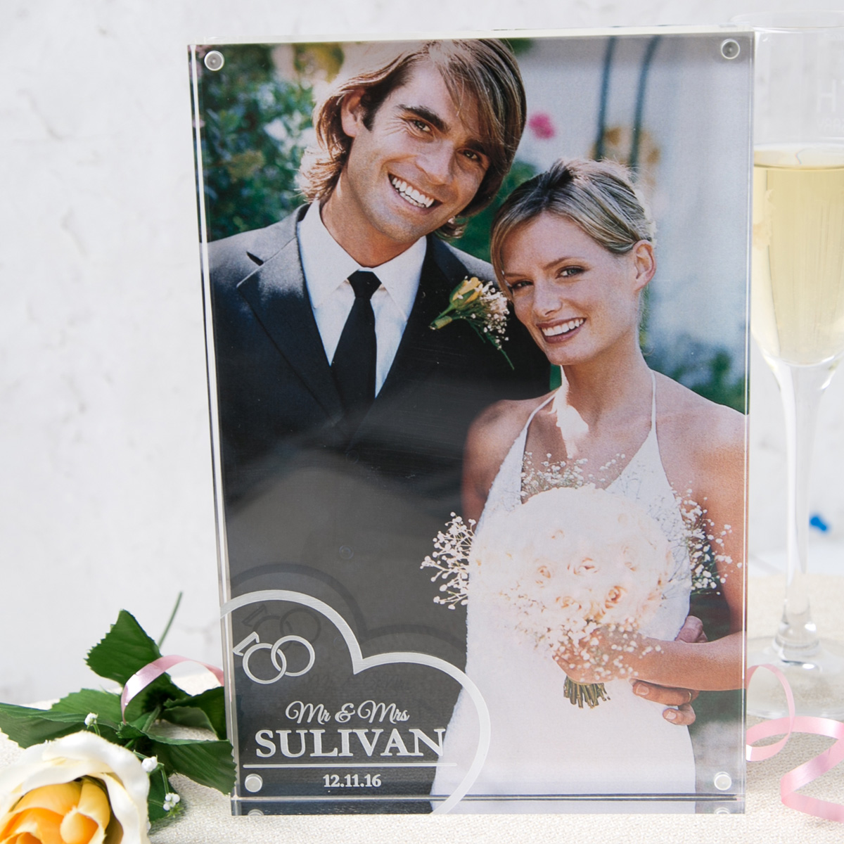 Personalised Acrylic Photo Keepsake  Wedding