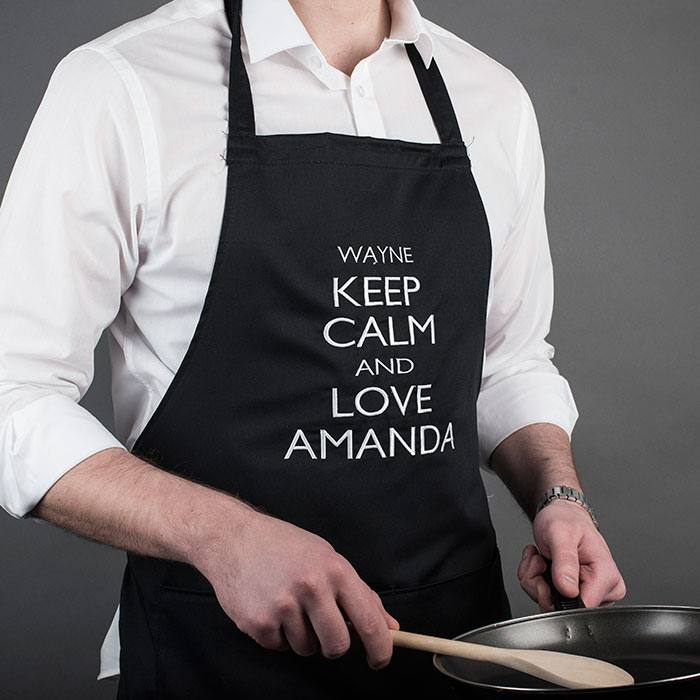 Personalised His and Hers Aprons  Keep Calm and Love