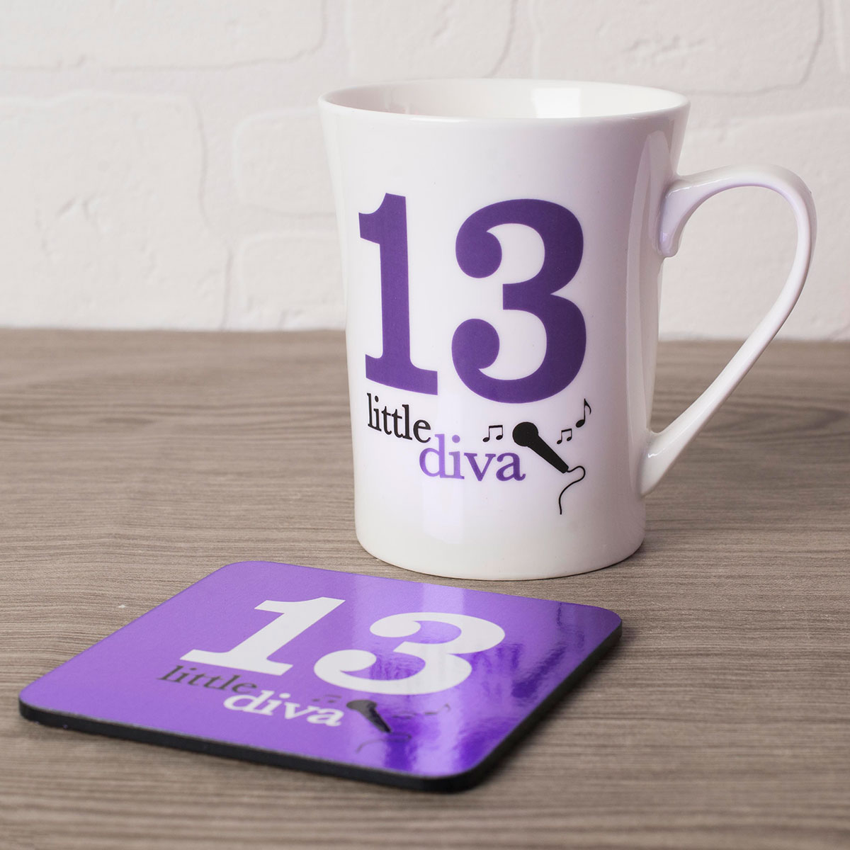 Image of 13th Birthday Mug And Coaster Set - Little Diva