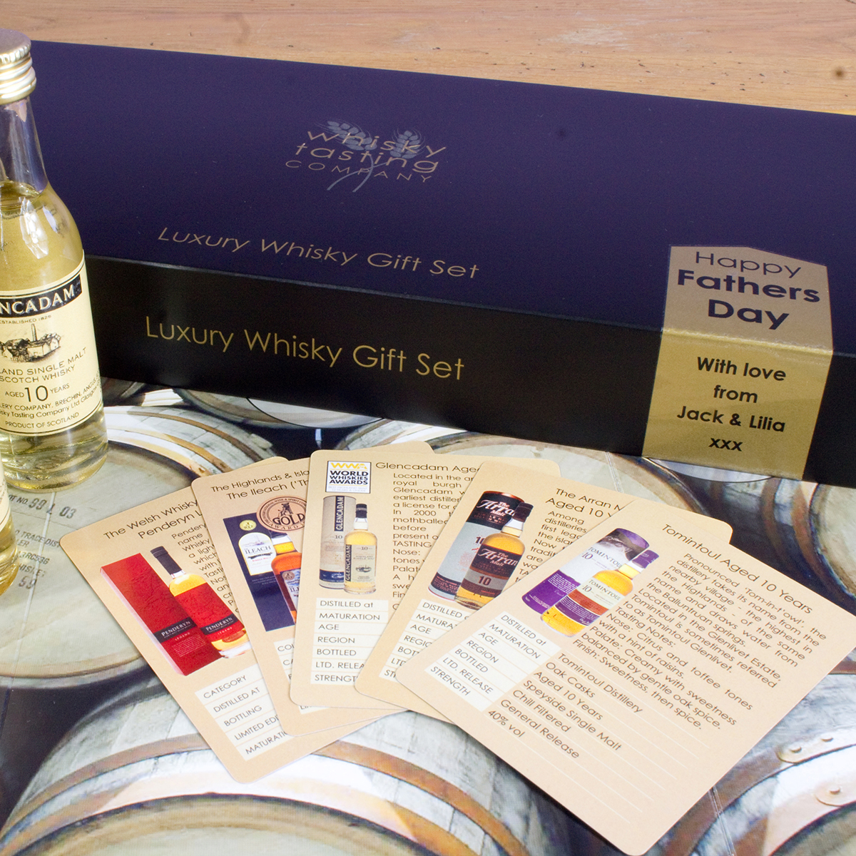 Personalised Fathers Day 5 Whisky Gift Set