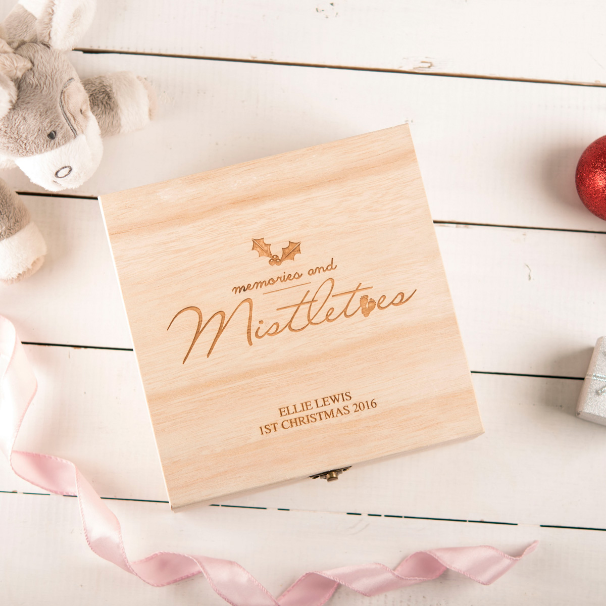 Personalised Storage Box - Memories And Mistletoes