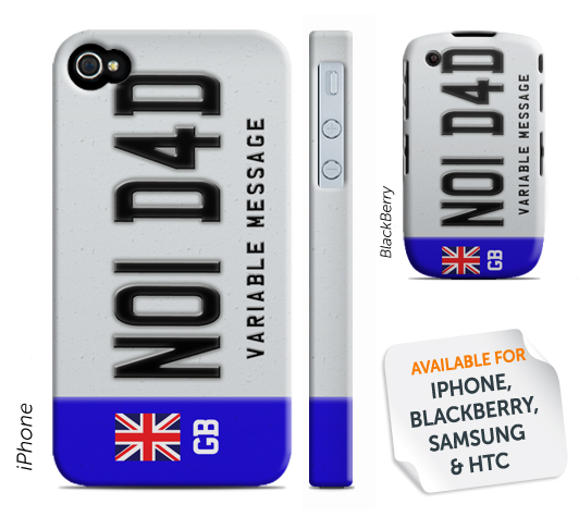 Personalised Phone Cover - NO1 D4D License Plate