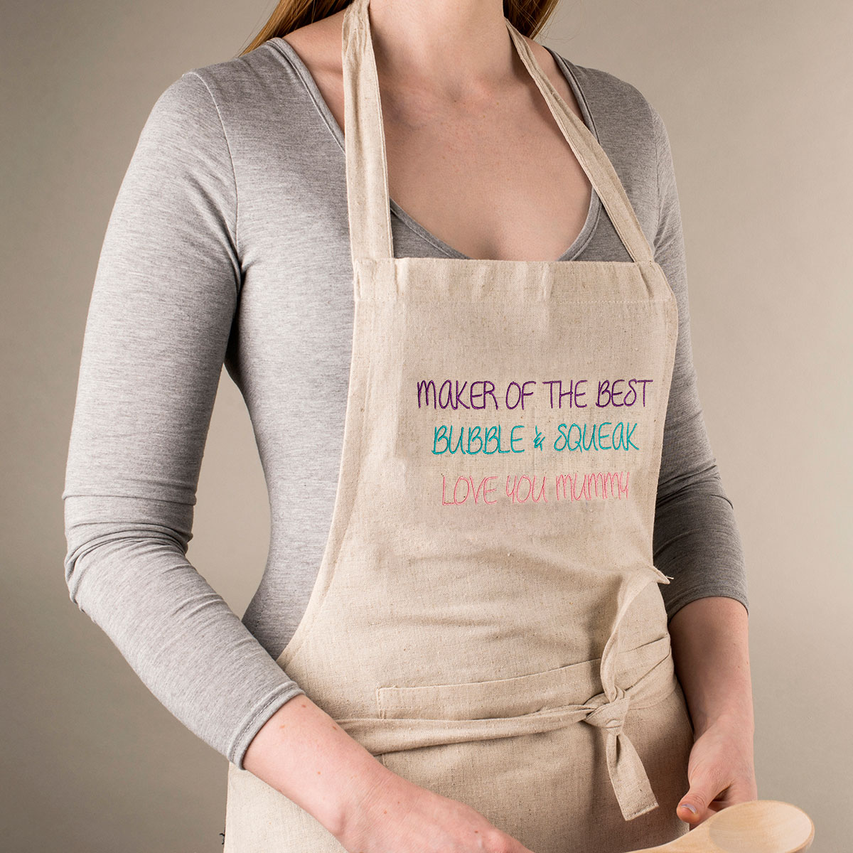 Personalised Natural Apron  Maker Of The Best