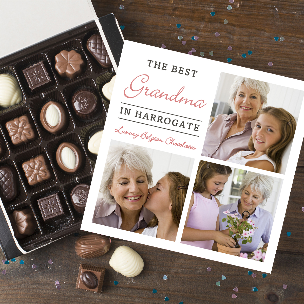 Photo Upload Belgian Chocolates  Best Grandma