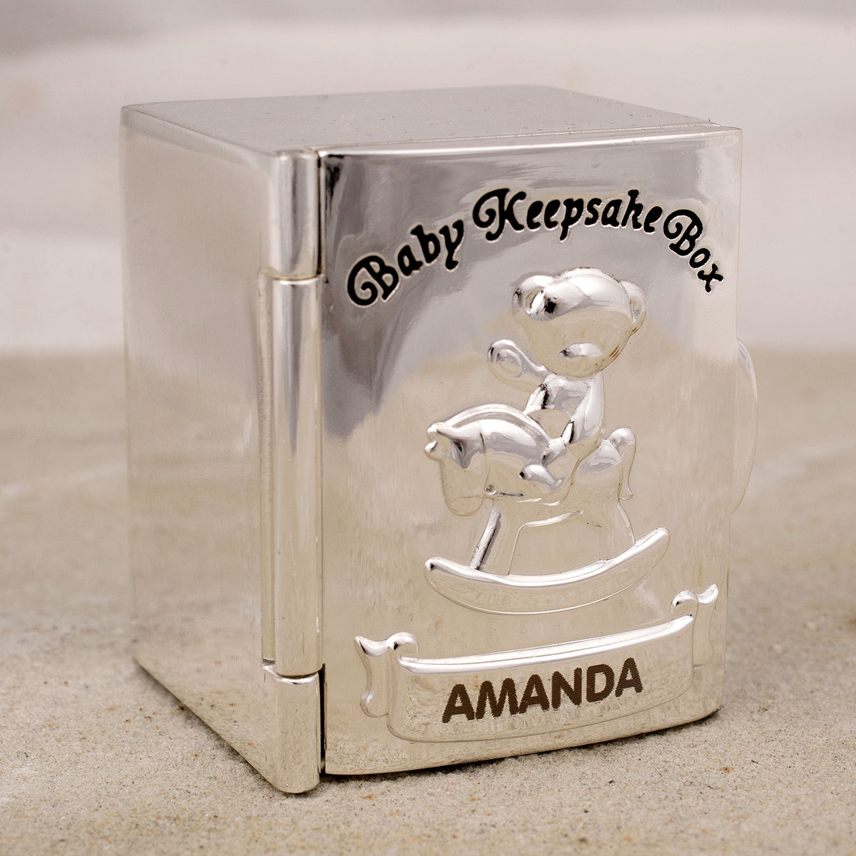 Engraved Keepsake Box with 2 Drawers Tooth & Curl