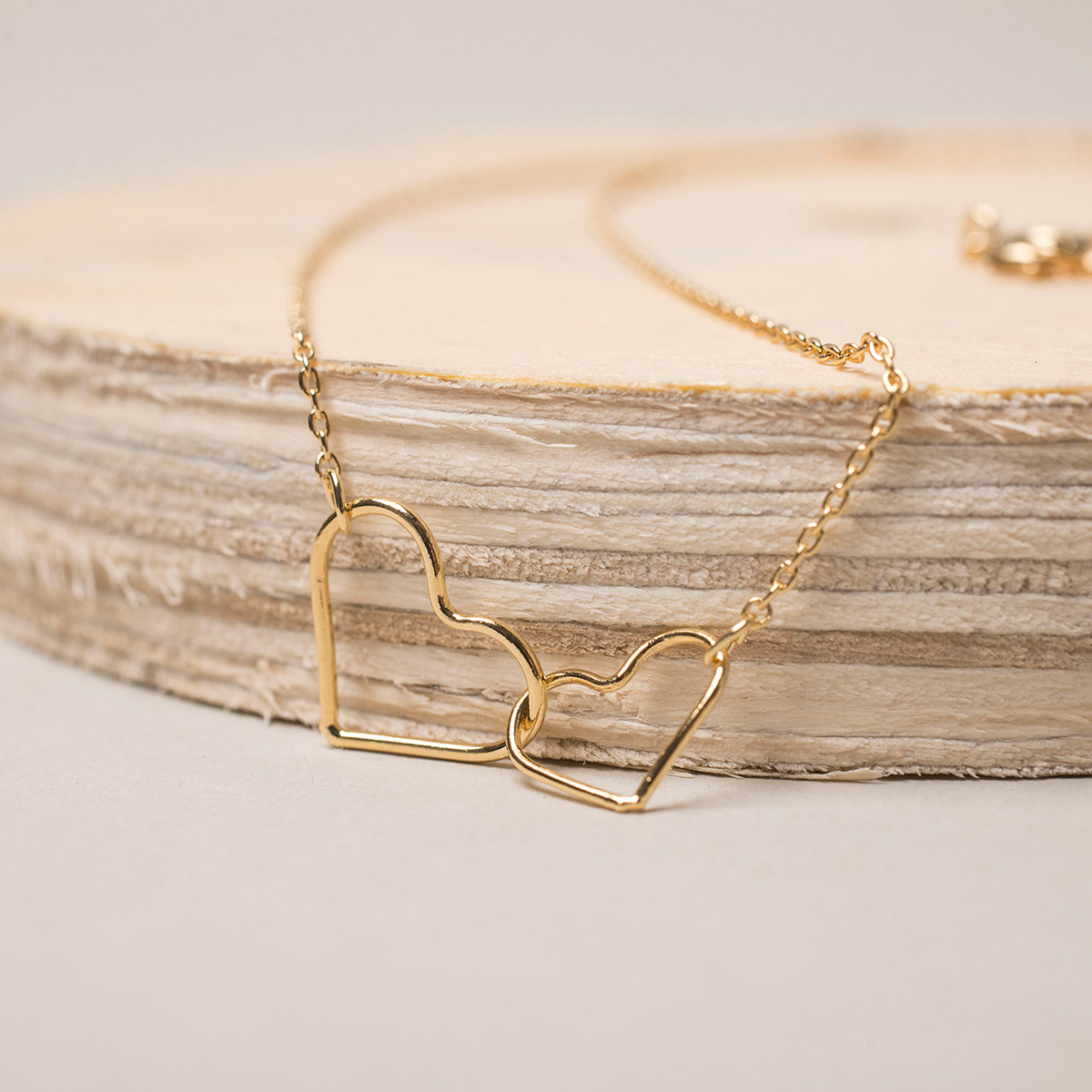 Estella Bartlett Linked Heart GoldPlated Necklace