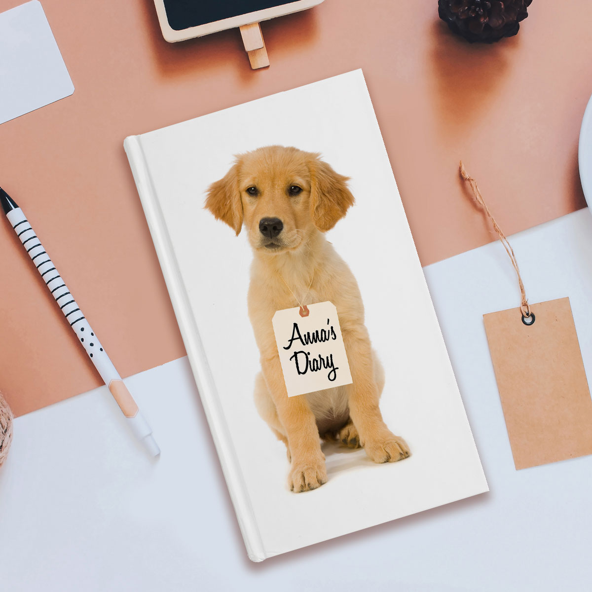 Personalised Gifts Personalised Diary - Puppy Love