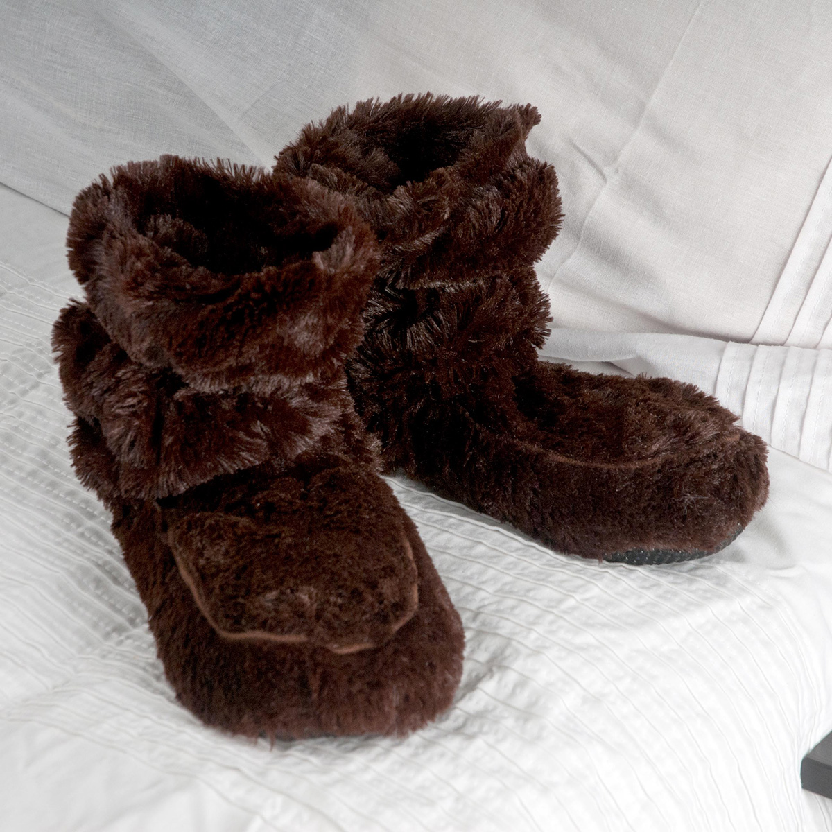 Cozy Boots™ Brown Microwavable Slipper Boots
