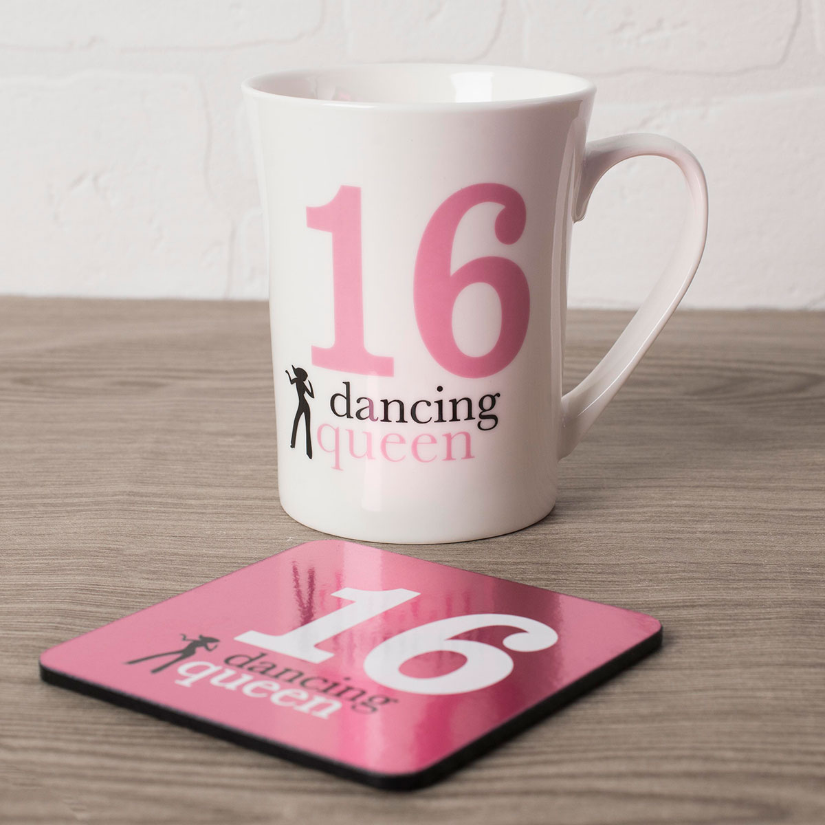 Image of 16th Birthday Mug And Coaster Set - Dancing Queen