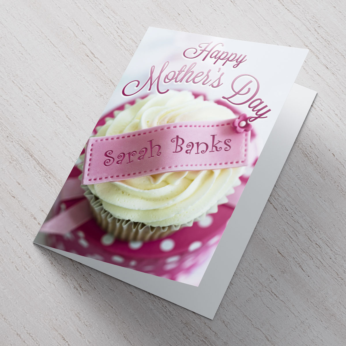 Personalised Mother's Day Card - Cupcake