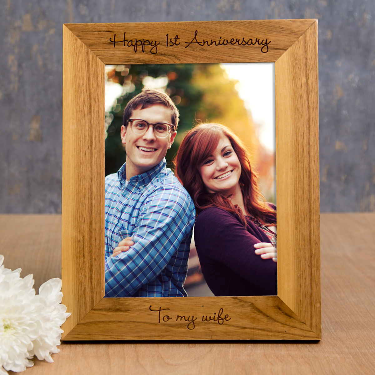 Personalised Wooden Photo Frame  Any Message