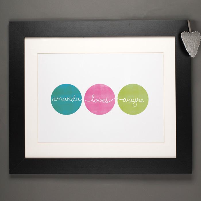 Personalised 'Love Circles' Print