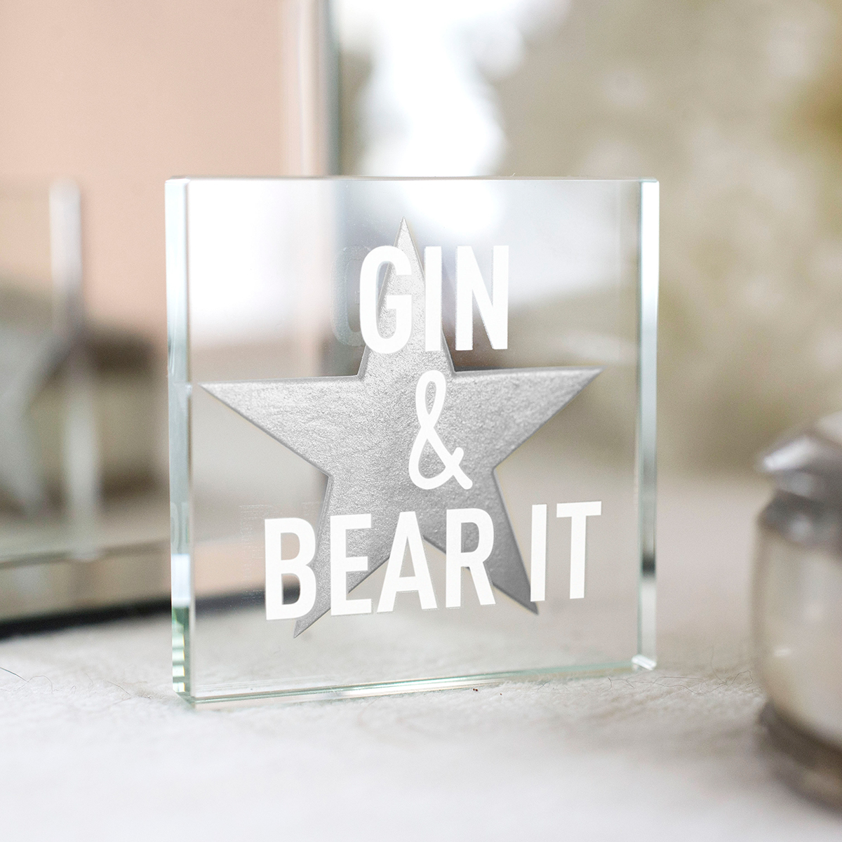 Spaceform Mini Glass Token - Gin & Bear It