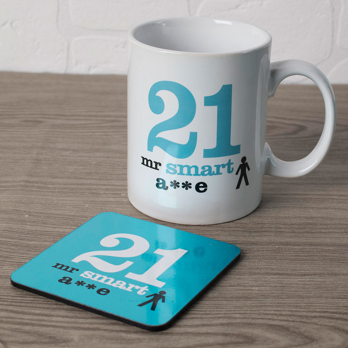 Image of 21st Birthday Mug And Coaster Set - Smart