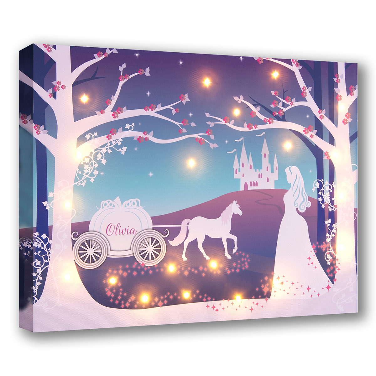 Personalised Illuminated Canvas  Cinderella