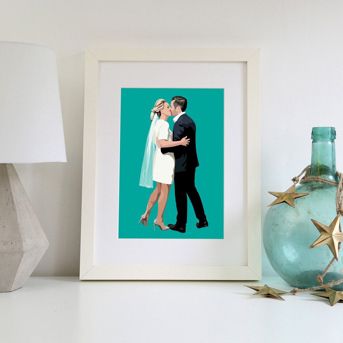 Personalised Wedding Illustration Print