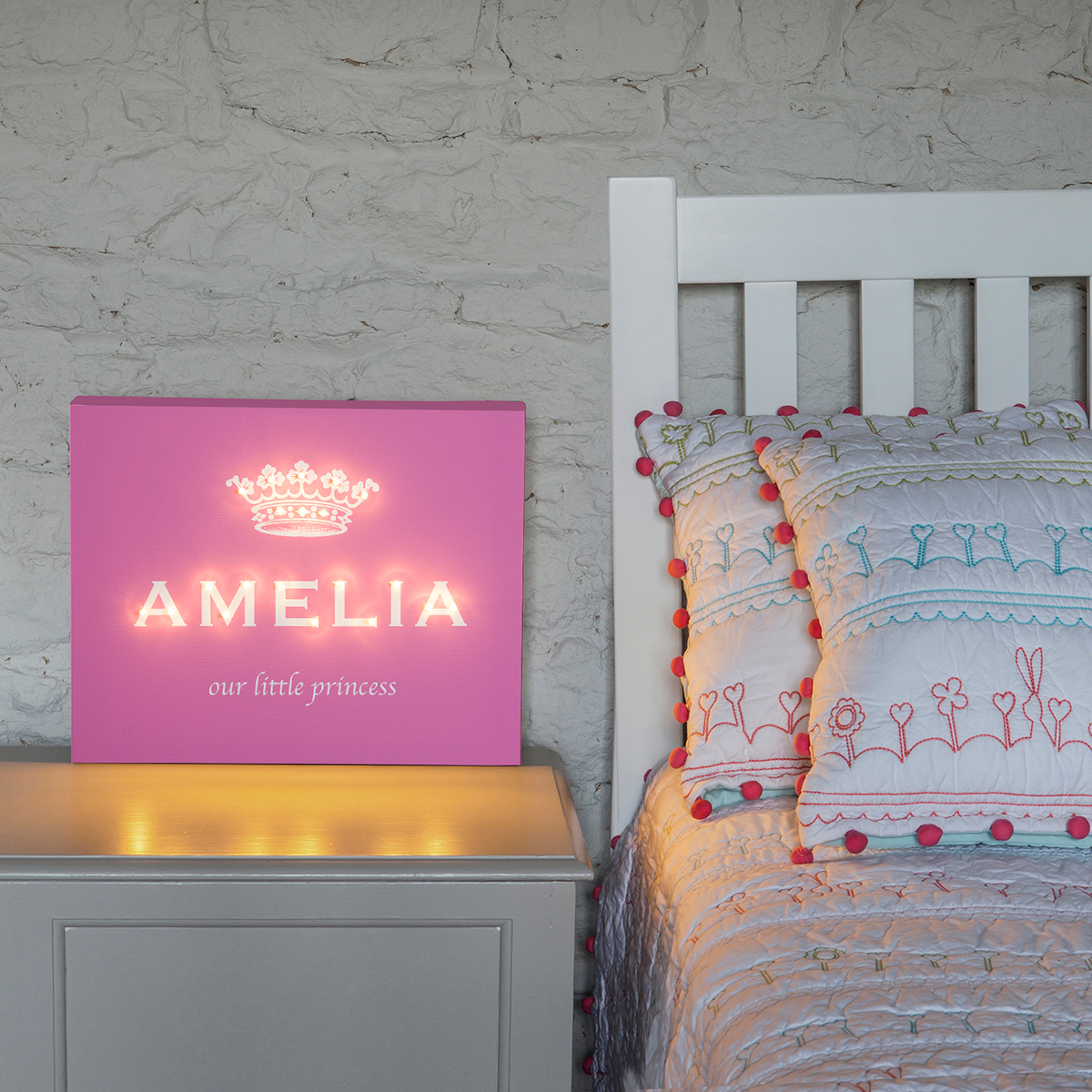 Personalised Illuminated Canvas - Our Little Princess