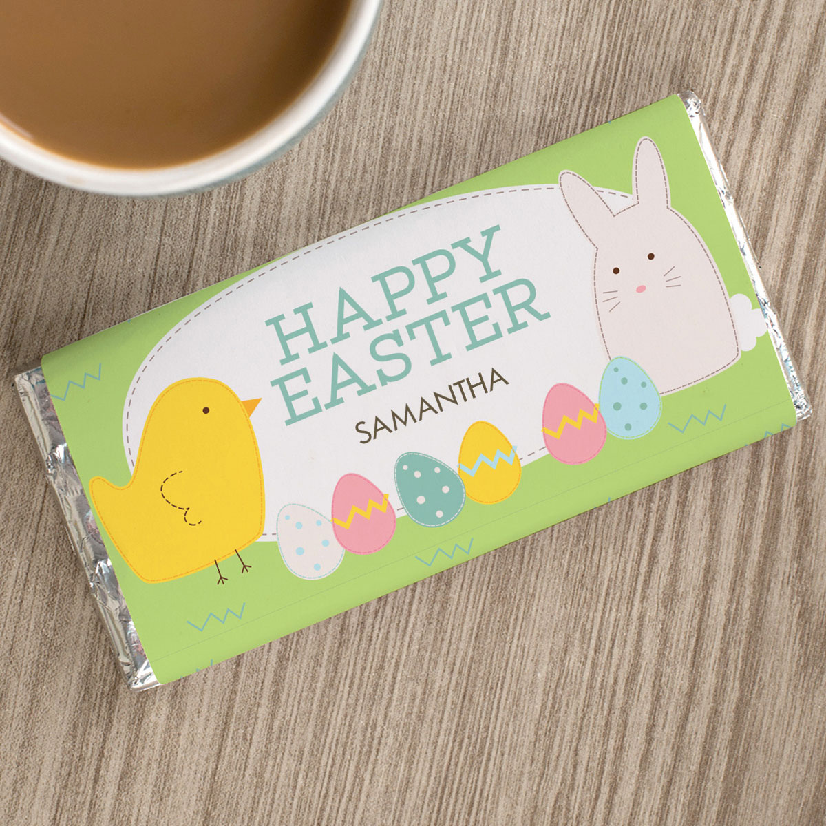 Personalised Chocolate Bar - Happy Easter