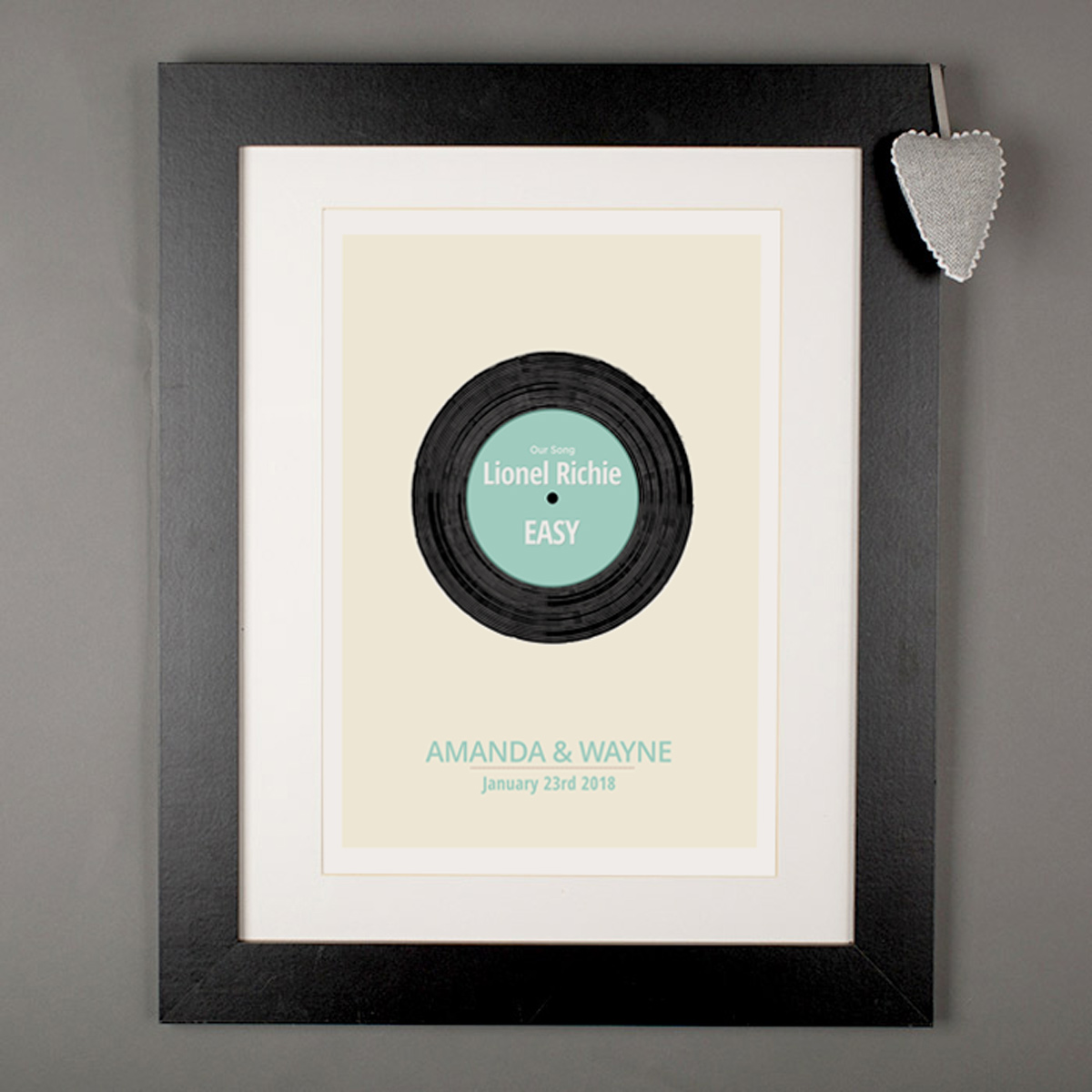 Personalised 'Our Record' Print