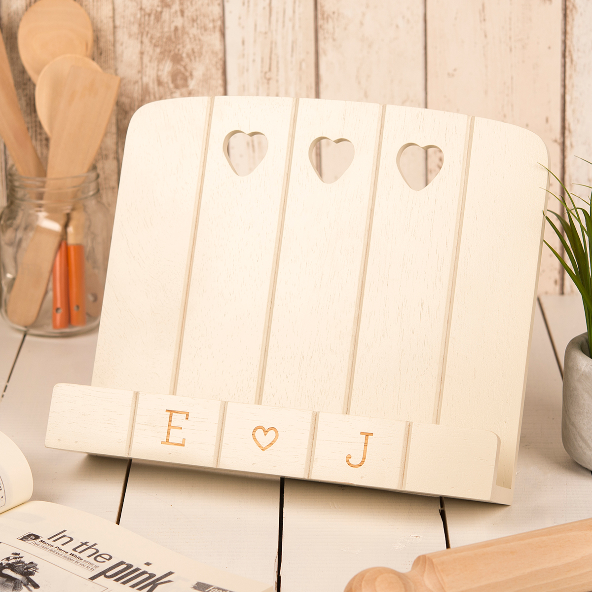 Image of Personalised Colonial Wooden Cook Book Stand