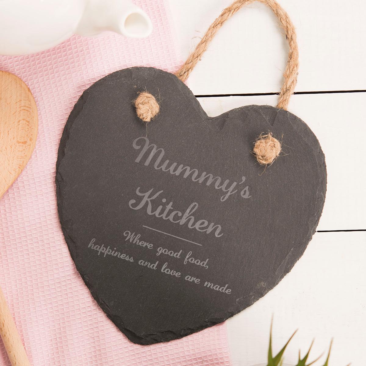 Personalised Medium Hanging Heart Slate