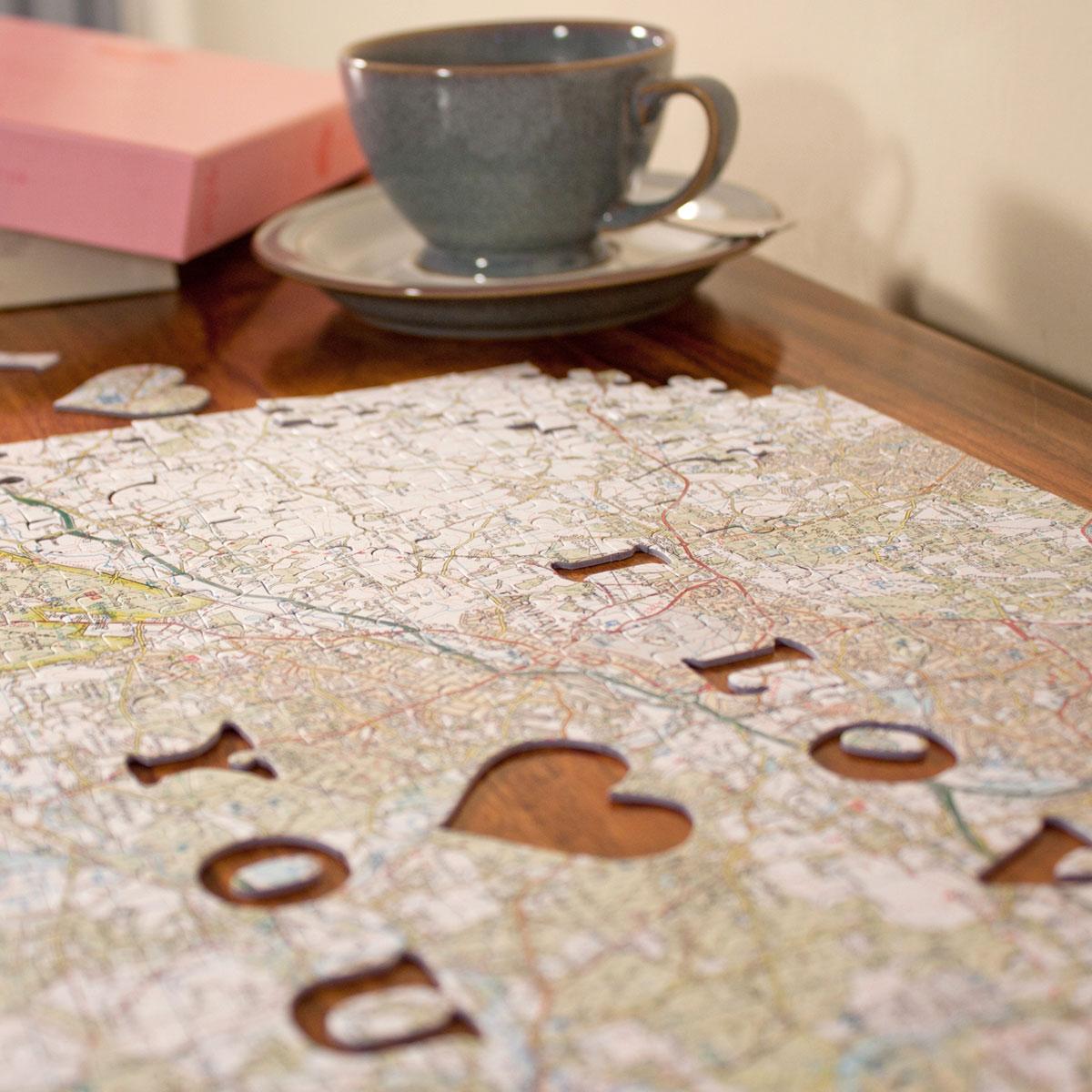 Personalised Postcode Jigsaw Puzzle  We First Met Here