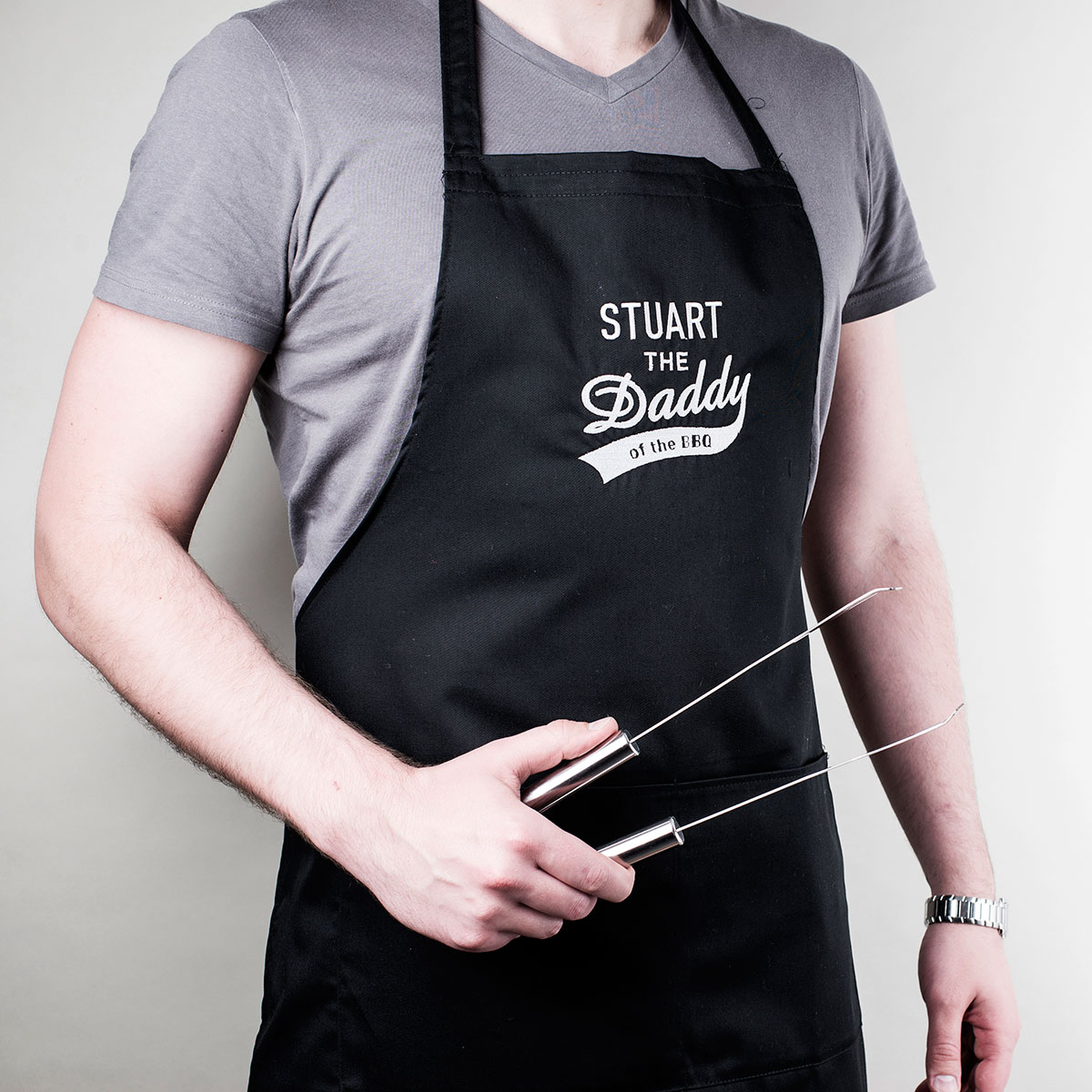 Personalised Apron - The Daddy Of The BBQ