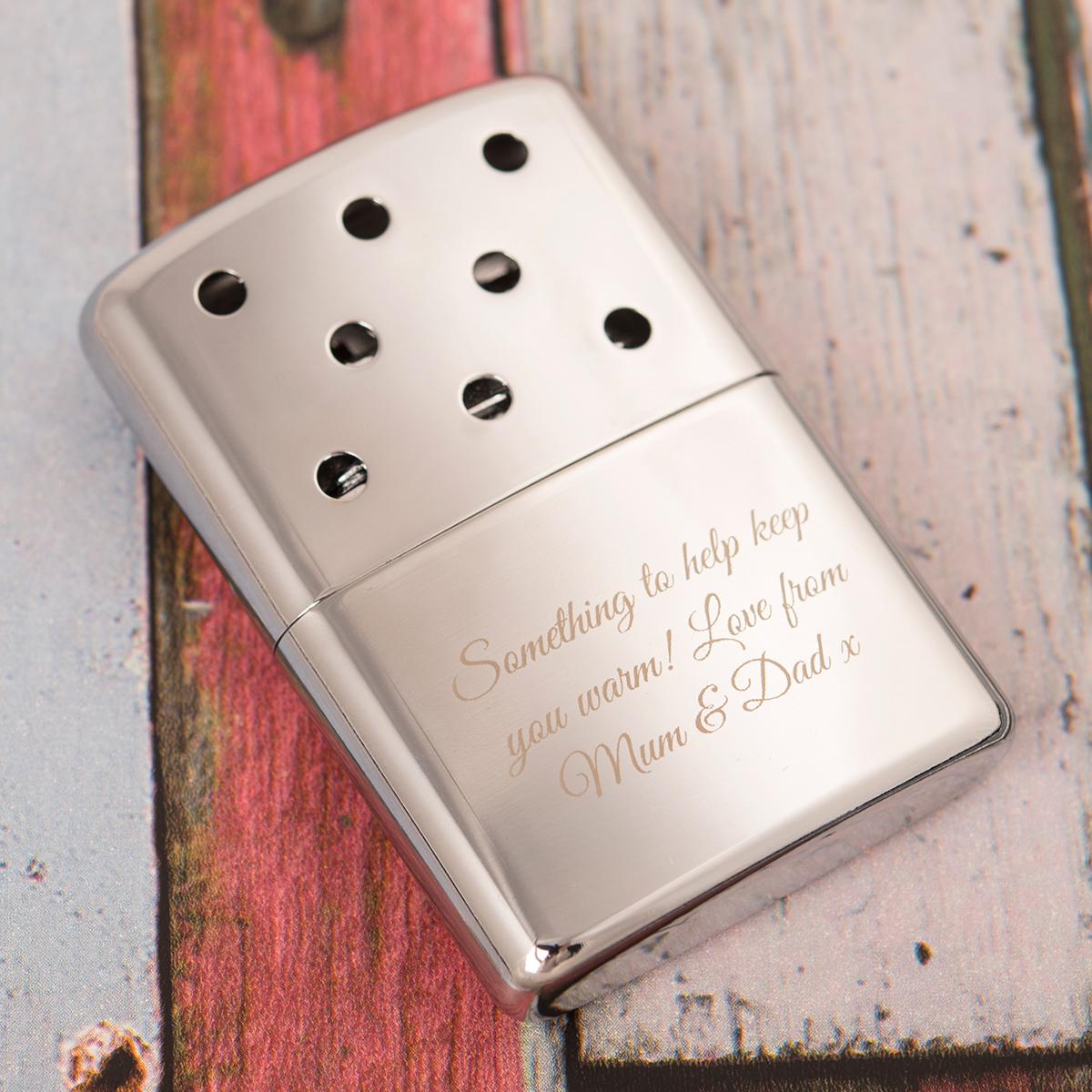 Personalised Zippo Hand Warmer