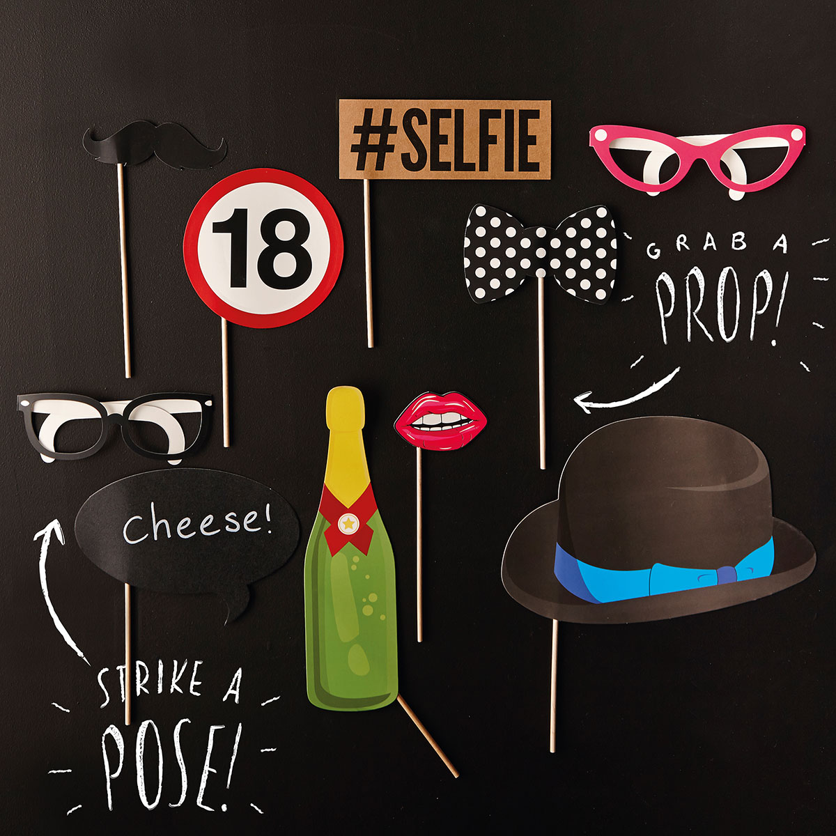 Image of 18th Birthday Photo Booth Props