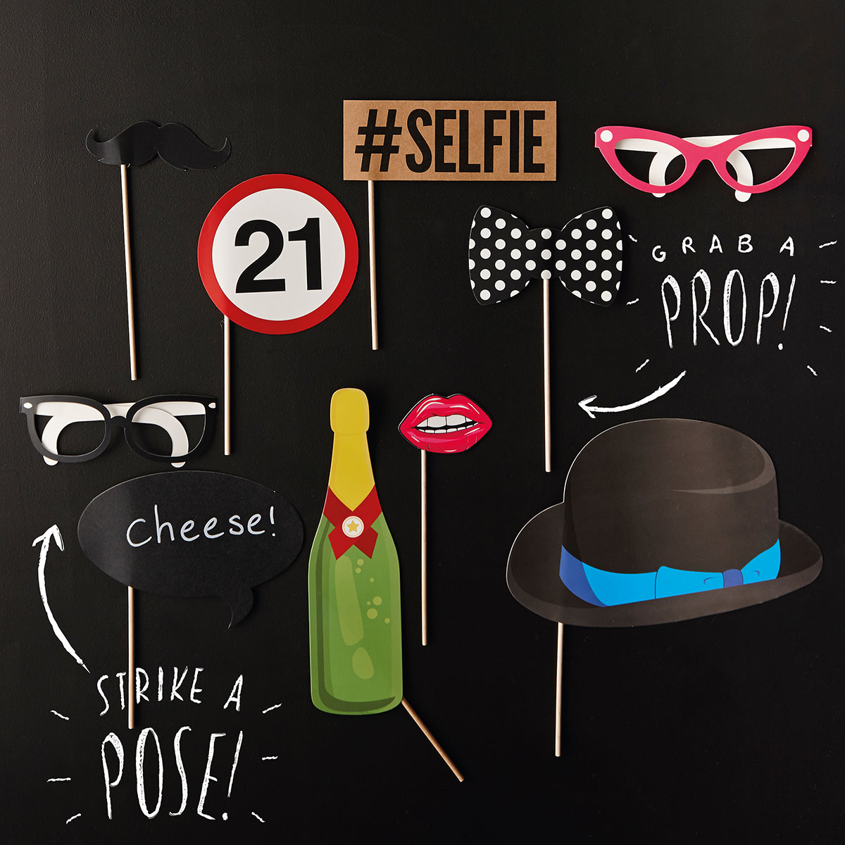 Image of 21st Birthday Photo Booth Props