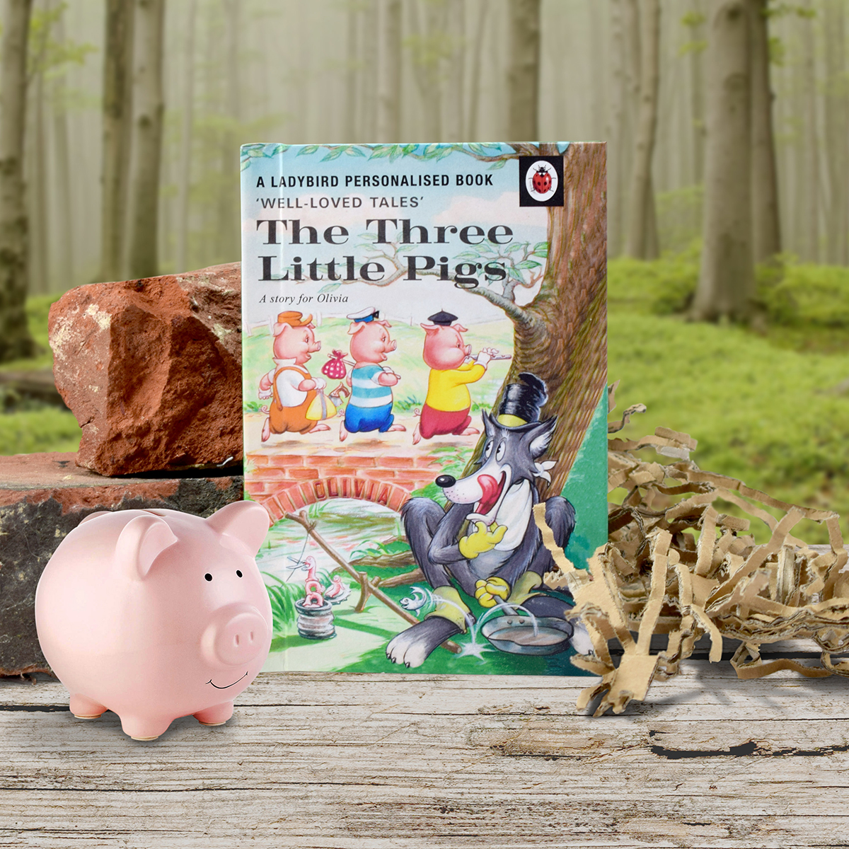 Personalised Ladybird Book For Children  The Three Little Pigs